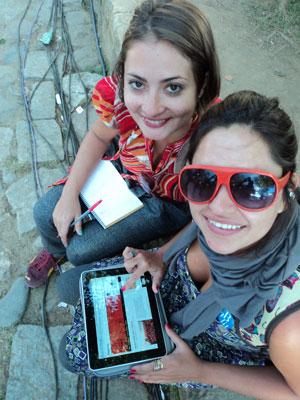 Nossas fãs: Mariana Serrano e Jonaya de Castro