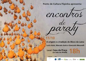 cartaz Encontros de Paraty  dia 11/10/2011