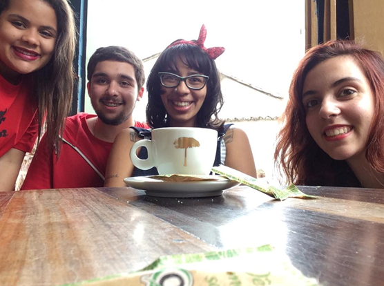 Brisa de Souza, Luy Firmino, Jessica Maximiano e Aghata Saez.